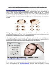 Get best Hair Transplant clinic in Bhubaneswar with effective hair transplant skill