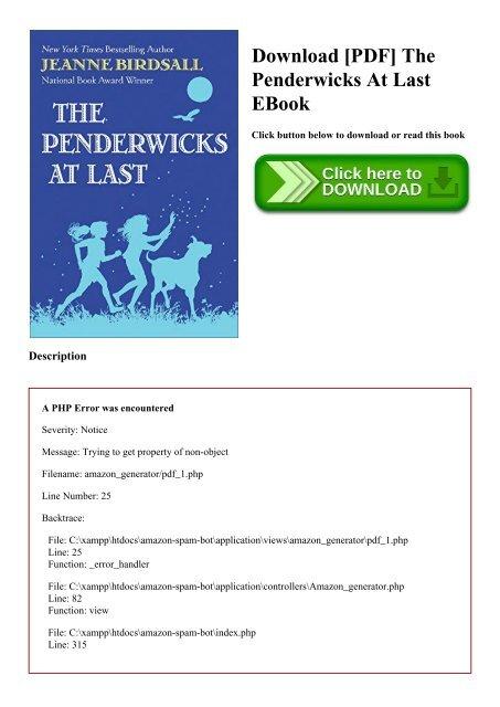 Download [PDF] The Penderwicks At Last EBook