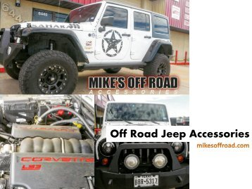 Top brand Off Road Jeep Accessories at Mike's Off Road online store