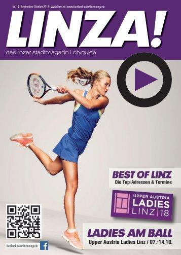 LINZA stadtmagazin Ausgabe #14 September-Oktober 2018