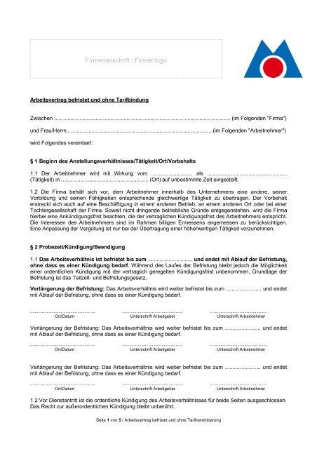 3 Arbeitsvertragbefristetohnetarifbindung07072017