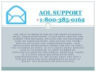 Aol Support Number- 1-800-385-0162  Tollfree Support Service
