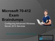 RealExamDumps 70-412 Exam Real Dumps - 70-412 Exam Dumps PDF Questions