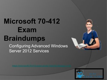 RealExamDumps 70-412 Exam Real Dumps - 70-412 Exam Dumps PDF Questions