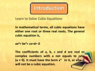 How to Solve Cubic Equation pdf
