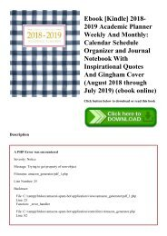 Ebook [Kindle] 2018-2019 Academic Planner Weekly And Monthly Calendar Schedule Organizer and Journal Notebook With Inspirational Quotes And Gingham Cover (August 2018 through July 2019) (ebook online)