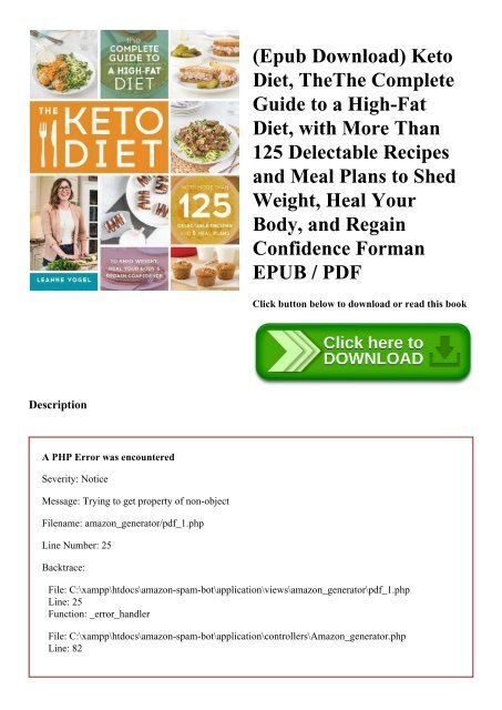 Epub Download Keto Diet Thethe Complete Guide To A High Fat Diet With More Than 125
