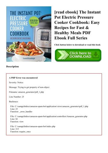 Everyday healthy meals cookbook champions for change read ebook the instant pot electric pressure cooker cookbook easy recipes for fast forumfinder Choice Image