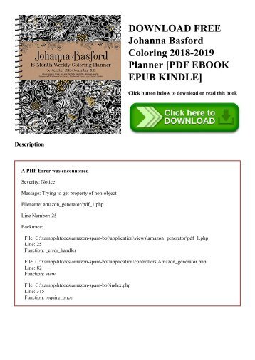download free johanna basford coloring 2018 2019 planner pdf ebook epub kindle