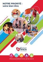 Centre de Loisirs Lachine - programmation 2018-19