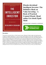 Value Investing From Graham To Buffett And Beyond Ebook