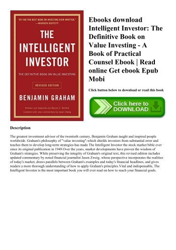 Pdf download alternative investments caia level i wiley finance ebooks download intelligent investor the definitive book on value investing a book of practical counsel fandeluxe Image collections