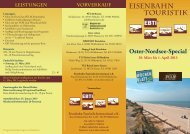 Oster-Nordsee-Special 29. März bis 1. April 2013 - First Reisebüro