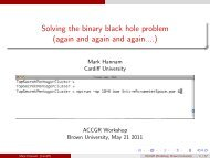Solving the binary black hole problem (again and ... - Brown University