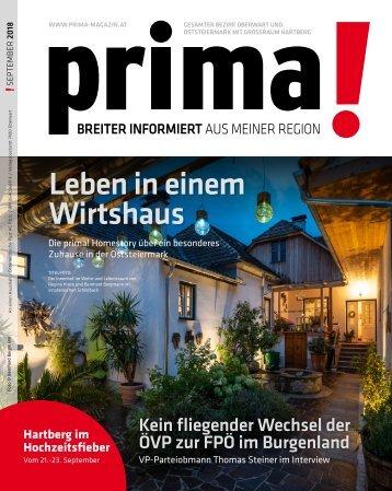 prima! Magazin - Ausgabe September 2018