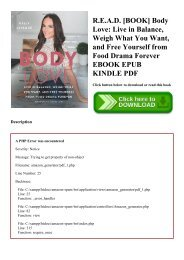 R.E.A.D. [BOOK] Body Love Live in Balance  Weigh What You Want  and Free Yourself from Food Drama Forever EBOOK EPUB KINDLE PDF