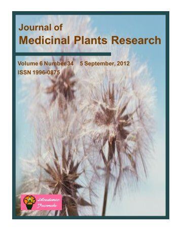 Medicinal Plants Research - Academic Journals