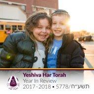 Yeshiva Har Torah Year In Review 2017-18