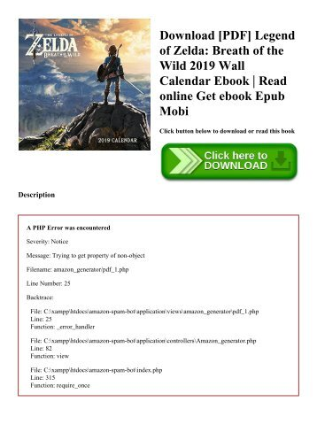 Download [PDF] Legend of Zelda Breath of the Wild 2019 Wall Calendar Ebook  Read online Get ebook Epub Mobi
