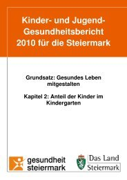 Anteil der Kinder im Kindergarten - Land Steiermark
