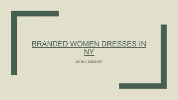 Branded Women Dresses in NY