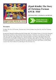 (Epub Kindle) The Story of Christmas Forman EPUB  PDF