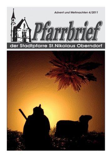 Pfarrbrief Advent Weihnachten 2011 - Pfarre Oberndorf an der Salzach