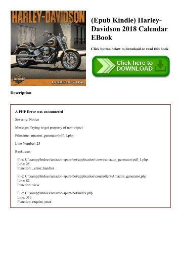 (Epub Kindle) Harley-Davidson 2018 Calendar EBook