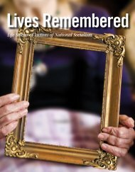 Lives Remembered. Life Stories of Victims of National