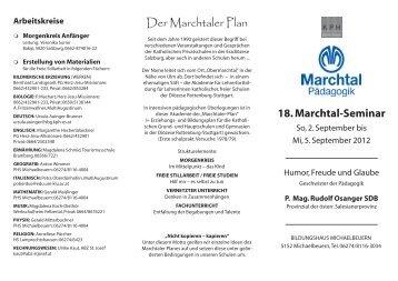 18. Marchtal-Seminar - Katechetisches Amt - Erzdiözese Salzburg
