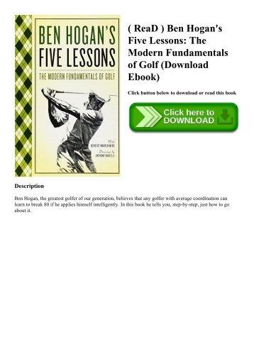 Ben Hogan's Five Lessons: The Modern Fundamentals of Golf downloads torrent