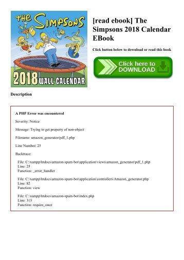 [read ebook] The Simpsons 2018 Calendar EBook