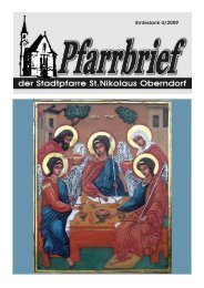Erntedank 4/2009 - Pfarre Oberndorf an der Salzach