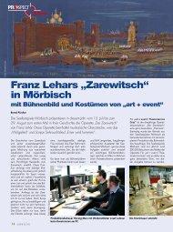 """Franz Lehars """"Zarewitsch"""" in Mörbisch"""