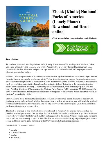 Ebook [Kindle] National Parks of America (Lonely Planet) Download and Read online