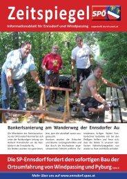 2 Dies und das Liebe Leserinnen und Leser! Fors ... - SPÖ Ennsdorf