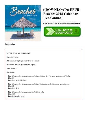 ((DOWNLOAD)) EPUB Beaches 2018 Calendar {read online}