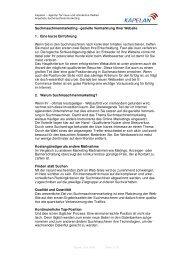 Suchmaschinenmarketing - gezielte Vermarktung Ihrer Website 1 ...