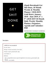 (Epub Download) Get Shit Done  18 Month Weekly & Monthly Planner  2018-2019 Gold Heart  January 2018 - June 2019  6 x 9 (2018 2019 18-Month Daily Weekly Monthly Planner  Organizer  Agenda and Calendar) PDF
