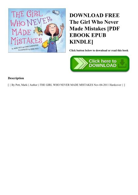 DOWNLOAD FREE The Girl Who Never Made Mistakes [PDF EBOOK