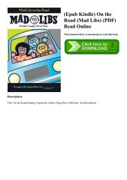 (Epub Kindle) On the Road (Mad Libs) (PDF) Read Online