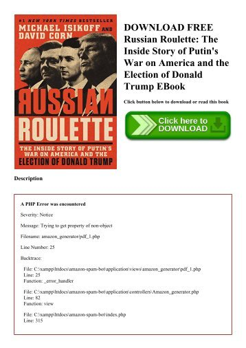 DOWNLOAD FREE Russian Roulette The Inside Story of Putin's War on America and the Election of Donald Trump EBook