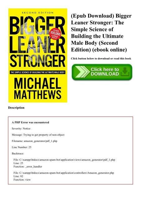 Leaner stronger download bigger ebook