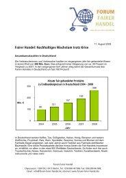 Nachhaltiges Wachstum trotz Krise - FairTrade e.V.