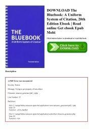 DOWNLOAD The Bluebook A Uniform System of Citation  20th Edition Ebook  Read online Get ebook Epub Mobi