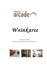 Weinkarte 1 - Hotel Arcade