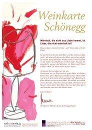 Weinkarte - Restaurant Schönegg