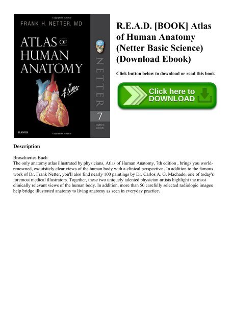 Atlas Of Human Anatomy By Frank Netter Ebook
