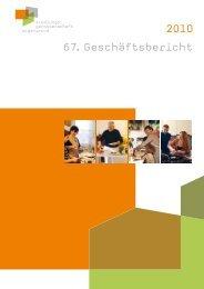 Bewohner-Porträts im Geschäftsbericht 2010 - zollingertext