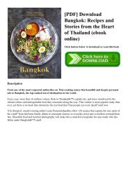 [PDF] Download Bangkok Recipes and Stories from the Heart of Thailand (ebook online)